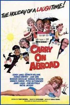 Whilst I admit I am a true Carry On movie fan, I would say that out of the 30 plus carry on films made to date; Carry On Abroad is probably one of my favourites and one that I have watched certainly more than most others. Released in Carry On. Comedy Movies, Drama Movies, Film Movie, Funny Films, Movies 2019, British Humor, British Comedy, Sidney James, Film Streaming Vf