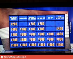 Watching Jeopardy.. When suddenly..