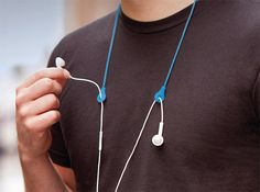 Props Headphone Keeper -It's annoying when people clearly see you're wearing earbuds yet insist on talking anyway. Props allow you to pop out your buds and keeps them close by, so when their stupid spiel is over you can get back to your music.