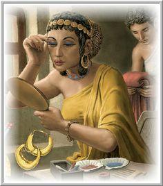 Ancient Mesopotamia Clothing / cosmetics / jewels for women