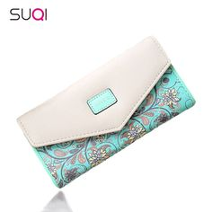 Suqi Famous Brand Designer Luxury Long Walet Women Wallets Female Bag Ladies Mon
