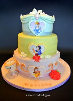 Three Layer Disney Princess Cake-reference only.