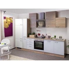 Flex Well Classic Küchenzeile Florida 310 Cm Sonoma Eiche Weiß