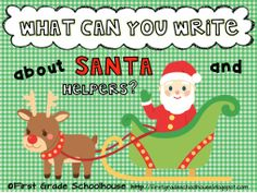 Classroom Freebies Too: Writing About Santa and Helpers