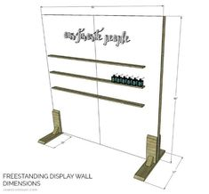 A tutorial to build a freestanding display wall perfect for any event space. Add ledges or other decor to create a stunning focal point. Vendor Displays, Craft Booth Displays, Market Displays, Display Ideas, Craft Booths, Vendor Booth, Free Standing Wall, Portable Display, Craft Stalls