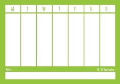 With this light green family calendar, you can organize your week and not forget about any appointments. It's simplistic design is customizable and easy to edit in under 5 minutes. Weekly Planner Template, Family Calendar, Staying Organized, Appointments, Planners, Envy, First Love, Forget, Organization
