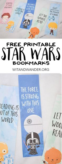 Star Wars Bookmarks Free Printables for Kids is part of Kids Crafts Cards Star Wars - Make reading fun with these Free Printable Star Wars Bookmarks featuring Darth Vader and Princess Leia Perfect for the classroom, gifts, and party favors! Tema Star Wars, Star Wars Bb8, Star Trek, Printable Star, Free Printables, Free Printable Bookmarks, Printable Quotes, Aniversario Star Wars, Star Wars Classroom