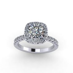diamond engagement ring with   moissanite center,style 26WDM