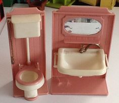 Jean west germany bathroom pieces Jeans West, Ol Days, Blue Box, Good Ol, Dollhouse Furniture, Projects To Try, Plastic, Dolls, Retro