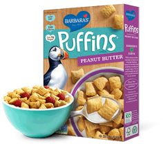 Peanut Butter Puffins - Barbara's Wholesome Cereals and Snacks