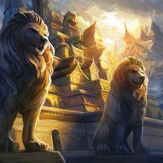 The Grand Halls of Lion by Alayna.deviantart.com on @deviantART