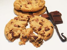 Cookie vanille, double chocolat