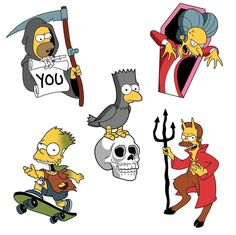 The Simpsons: Treehouse of Horrors Simpsons Tattoo, Simpsons Drawings, The Simpsons, Disney Cartoons, Simpsons Halloween, Adveture Time, Time Art, Simpsons Treehouse Of Horror, Caricatures