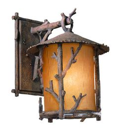 Rustic and cool branch lantern light