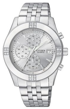Citizen Quartz Chronograph 35mm Swarovski Crystal Women's Watch - FA1040-51A Citizen. $119.99