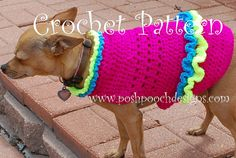 Instant Download Crochet pattern  Dog Summer by poshpoochdesigns, $3.00