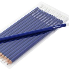 Personalised Blue Pencils  from Personalised Gifts Shop - ONLY £8.99