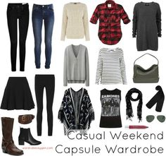 capsule wardrobe casual weekend winter fall