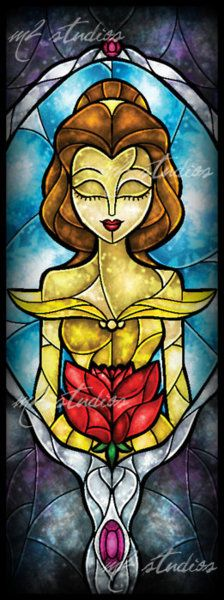 Belle Stained Glass Window.