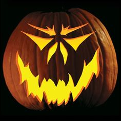 jack+o'lantern+carving | grimace for a classic half friendly half scary jack o lantern look ...