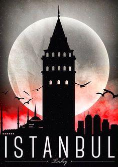 Travel Poster - Istanbul - Turkey. #CityPoster