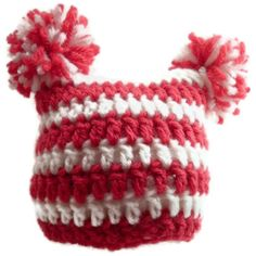 Baby Christmas Hat Red and White Stripe . $20.00, via Etsy.