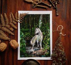 Horse Illustration, Watercolor Illustration, Renaissance Paintings, Vintage Artwork, Wild Horses, Watercolor Paper, Art Nouveau, Moose Art, Vintage Fashion