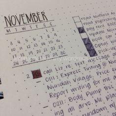month bujo layout