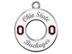 Show Your Buckeye Pride With Diamond Cellar's Exclusive Ohio State University Buckeyes Necklace By Collegiate Jewel. White Enamel Over Sterling Silver With Red Lettering On Sterling Silver Chain.  Price: $129