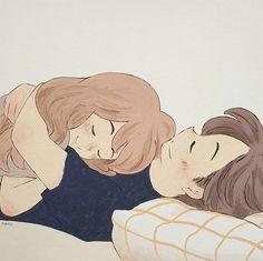 Love Cartoon Couple, Cute Couple Comics, Cute Couple Art, Anime Love Couple, Cute Anime Couples, Cute Bear Drawings, Cute Couple Drawings, Anime Couples Drawings, Cute Love Cartoons
