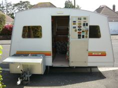 Vintage Rapido Folding Caravan 4 Berth Camping Trailer With Rare Original Awning