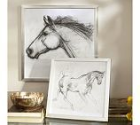 Idea to frame art...Silver Framed Horse Sketch, Large