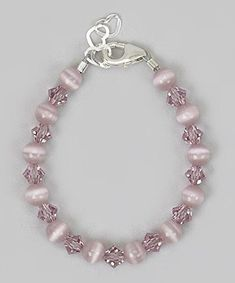 Crystal Dream Elegant Purple Cats Eye Beads with Purple Swarovski Crystals Stylish Sterling Silver Baby Girl Bracelet BCTPU_S *** Want to know more, click on the image.