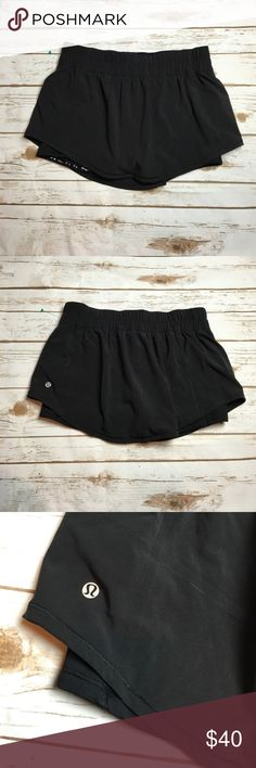 Black Lululemon breeze by skort This skort is from the Lululemon running line, it's called the breeze by skort! Although it is specially designed with running in mind, it works for so many different types of workouts! It's also very comfy for working around the house or running errands! I ❤️ offers! lululemon athletica Shorts Skorts