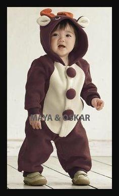 Elevenfy   Disfraz de Navidad Animal RENO niño bebé mameluco de Navidad