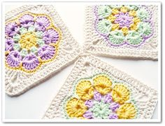 Crochet: African flower square (free pattern)