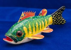 decoy style fish with metal fins | folk art/ carving | Pinterest ...