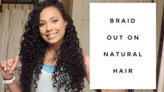 How To Get The Perfect Braidout on Natural Hair | Collab with JeweJeweBe...