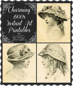 1900's Children's Fashions - Instant Art Antique Graphic Printables - Knick Of Time