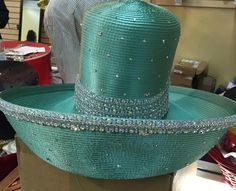 """We should not be so out of step with the fashions of society that we stand out like the proverbial """"sore thumb.""""  Seafoam green Louise D.Patterson Couture by Joyce Richardson"""