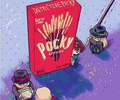 Image about chocolate in detective conan y kaito kid by lolylove Magic Kaito, Dc Anime, Anime Art, Detective Conan Gin, Detektif Conan, Detective Conan Wallpapers, Chibi Food, Kaito Kid, Amuro Tooru