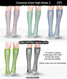 HL7402's REPAINT & amp; SKIN ARCHIVE: [Sims 3] Converse Boots 2 (