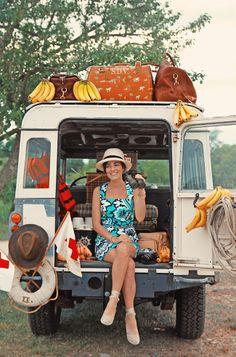 Sarah Vickers + Banana + Darjeeling Luggage.  Swoon swoon swoon.