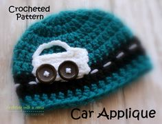 Easy to follow and read crochet car applique pattern. Description from etsy.com…
