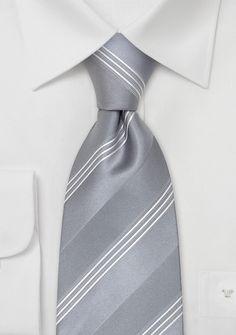 Festliche Krawatte Silber