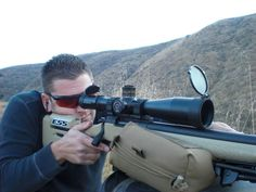 James Jeffries of SoCal Precision Rifle Team draws a bead on a target at 585 yards. (Crossbow, Hi-Def Copper lens)