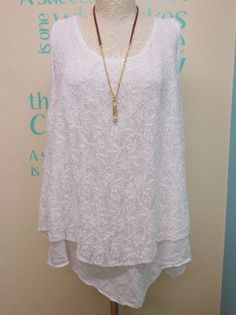 PLUS SIZE LAGENLOOK WHITE LACE LAYERING TUNIC WITH LAYERED OPEN BACK UK 16-24 | eBay