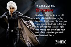 Here's a quiz to determine which X-Men character you are. Guess who I am?
