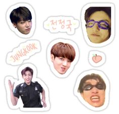 BTS stickers featuring millions of original designs created by independent artists. Exo Stickers, Face Stickers, Tumblr Stickers, Printable Stickers, Free Printable, Bts Jungkook, Bts Memes, K Pop, Kpop Diy