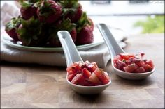 Strawberry, watermelon and basil salad.  I miss summer already!